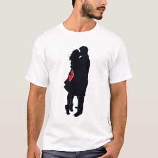 T-shirt Silhouette d'un baiser