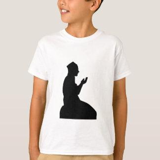 T-shirt Silhouette d'un homme de prière musulman