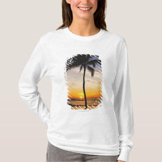 T-shirt Silhouette d'un palmier par un coucher du soleil