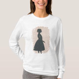 T-shirt Silhouette d'une fille avec une corde à sauter