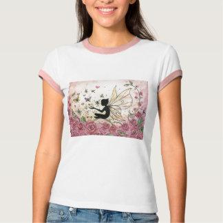 T-shirt Silhouette et roses