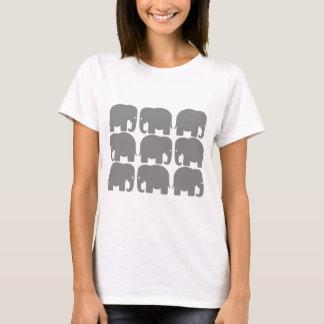 T-shirt Silhouette grise d'éléphants
