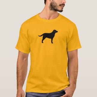 T-shirt Silhouette noire de labrador retriever