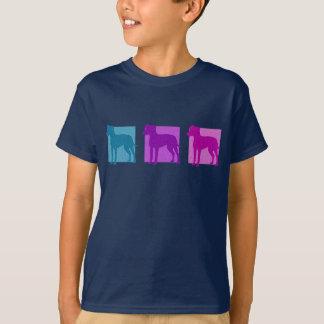 T-shirt Silhouettes colorées de Manchester Terrier