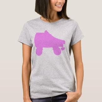 T-shirt silhouettes de patin de rouleau