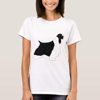 T-shirt Silo bronzage de blanc de noir d'épagneul de