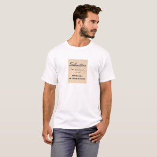 T-shirt Silvertone de slogan
