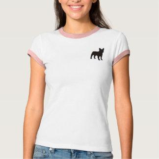 T-shirt simple avec la petite silhouette de chien