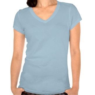 T-shirt simple de bleu de ciel pour des femmes, da