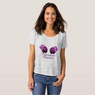 T-shirt simple de fleur de paradis