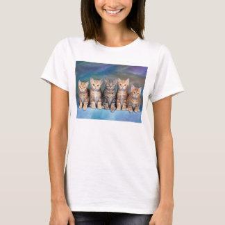T-shirt simple femmes chats