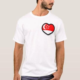 T-shirt Singapour dans ma chemise d'hommes de coeur