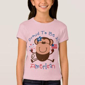 T-shirt Singe américain fier de fille