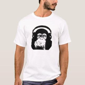 T-shirt Singe avec des écouteurs