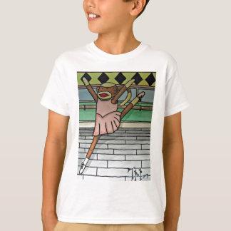 T-shirt Singe de chaussette de ballerine