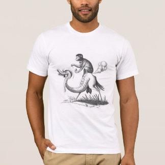 T-shirt Singe de péter sur un monstre