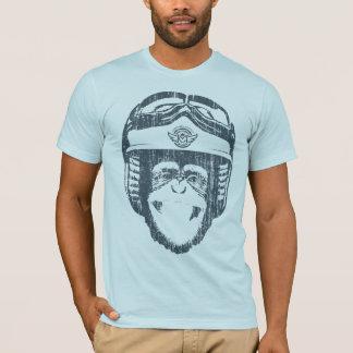 T-shirt Singe heureux de Moto (ardoise vintage)