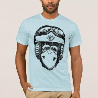 T-shirt Singe heureux de Moto (noir de cru)