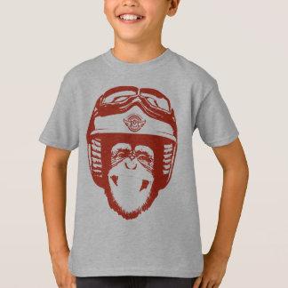 T-shirt Singe heureux de Moto (rouge)