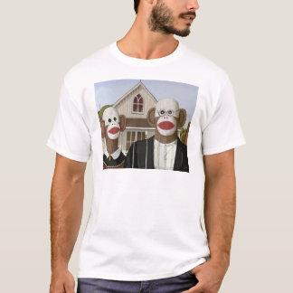 T-shirt Singes gothiques américains de chaussette
