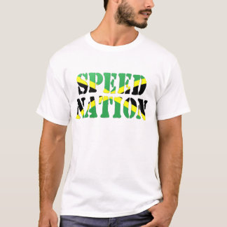 T-shirt Singulet jamaïcain de drapeau de nation de vitesse