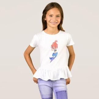 T-shirt Sirène bleue de queue