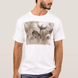 T-shirt Sirène Brown de l'arrière - plan 3D de fractale
