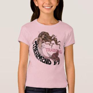 T-shirt Sirène dans la formation, enfants (brune)