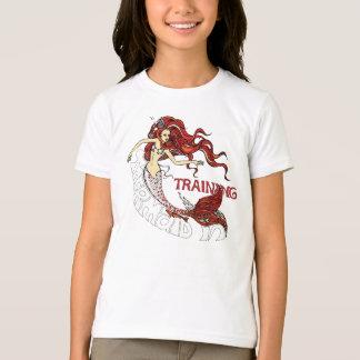 T-shirt Sirène dans la formation, enfants (roux)
