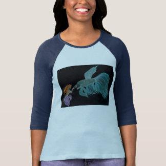 T-shirt Sirène et bêta chemise de poissons