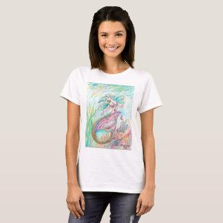 T-shirt Sirène rose et turquoise