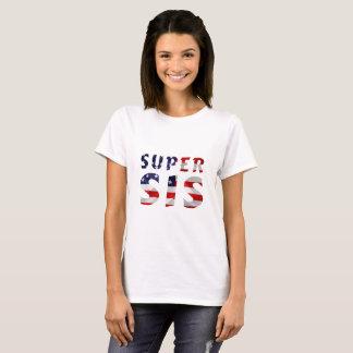 T-shirt SIS superbe et le drapeau américain