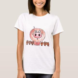 T-shirt Six petits porcs