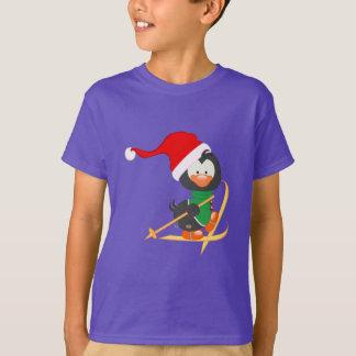T-shirt Ski de pingouin de Noël