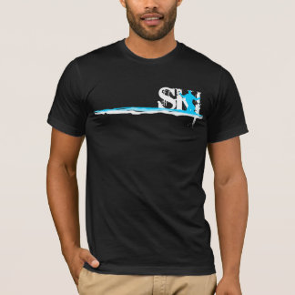 T-shirt ski incliné