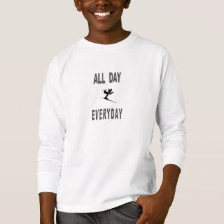 T-shirt Ski toute la journée quotidien
