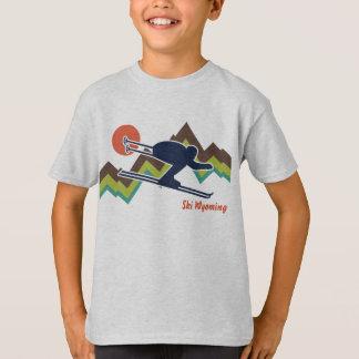 T-shirt Ski Wyoming