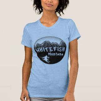 T-shirt Skieur artistique du Montana de poisson à chair