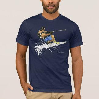T-shirt Skieur de l'eau - bleu