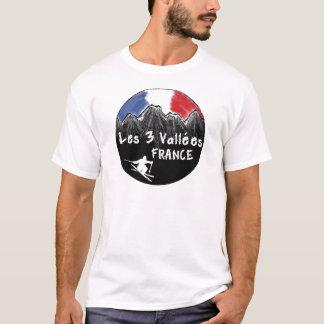 T-shirt Skieur de Les 3 Vallées France