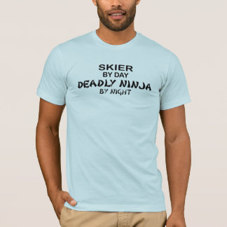 T-shirt Skieur Ninja mortel par nuit