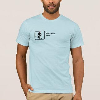 T-shirt Skieur -- Petit logo -- Personnalisable