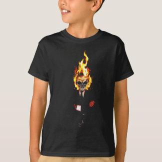 T-shirt Skull on fire