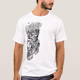 T-shirt skull smoke weed