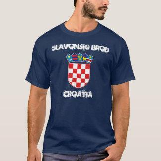 T-shirt Slavonski Brod, Croatie avec le manteau des bras