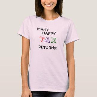 T-shirt Slogan drôle de citation de saison d'impôts de