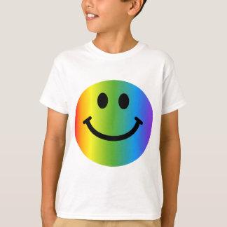 T-shirt Smiley d'arc-en-ciel
