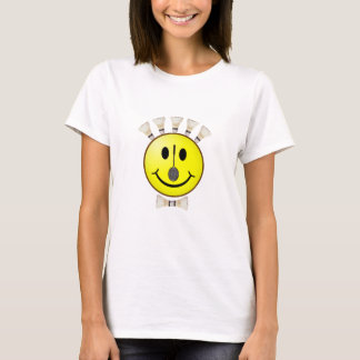 T-shirt Smiley de Bowtie de badminton