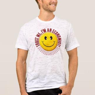 T-shirt Smiley de confiance d'économiste