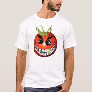 T-shirt Smiley de grimacerie rouge mauvais de tomate